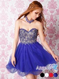 【P★10倍】[Angel R]ネックレス付き2Wayビジューチュールスカートベアミニドレス[AR5230][送料無料]
