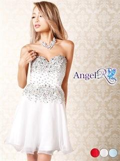 【P★10倍】[Angel R]ビジューたっぷり!ベアトップミニドレス[AR5617][送料無料]