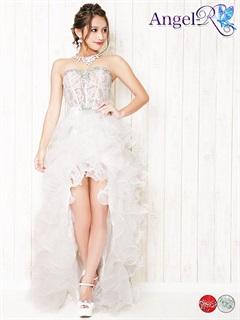 [Angel R]シースルーコルセットデザインティアードフリルテールカットベアロングドレス[AR5247]