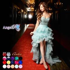 【P★10倍】[AngelR]上品ビジューのウェディングテールカットロングドレス[AR2216][送料無料]