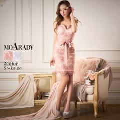 [MOARADY][SMLサイズ]オールレースウエストリボンキャミタイトミニドレス[3サイズ展開]