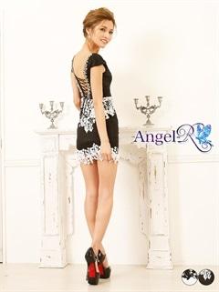 【P★10倍】[AngelR]レースショルダービジュータイトミニドレス[AR6209][送料無料]