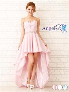 【P★10倍】[Angel R]ウエストビジュープリーツ切り替え前ミニロングドレス[AR6610][送料無料]