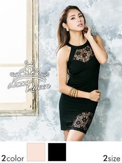 [S/Mサイズ]バックカットアウトアメスリレースシアータイトミニドレス[2サイズ展開][change clothes]