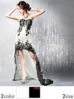 [drexie]刺繍レーステールカットベアロングドレス[送料無料]