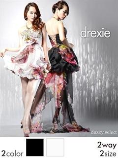 [drexie]エアリーバルーン2WAYテールカットロングドレス