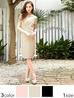 ペンシルタイトミニドレス