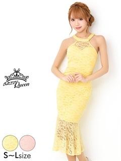 3/16UP[SMLサイズ]総レースワンカラーアメスリタイトドレス[3サイズ展開]