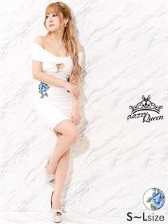 5/18UP[SMLサイズ]花柄刺繍付パール×ビジューオフショルタイトミニドレス[3サイズ展開]