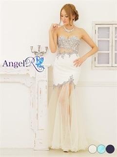 【P★10倍】[Angel R]シースルーマーメイドラインロングドレス[AR6508][送料無料]