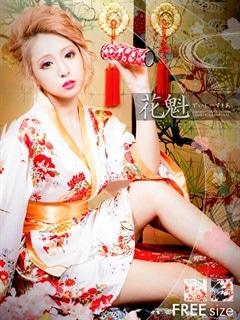 ◇dazzystore2017花魁◇帯風リボン付き和柄着物風花魁ミニドレス