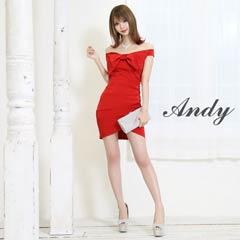 [Andy]ワンカラーリボンオフショルタイトミニドレス[AN-OK1554][送料無料]