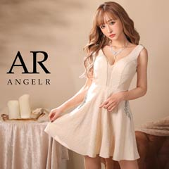 【P★10倍】花柄ビジューフレアミニドレス [AngelR][AR8209][送料無料]
