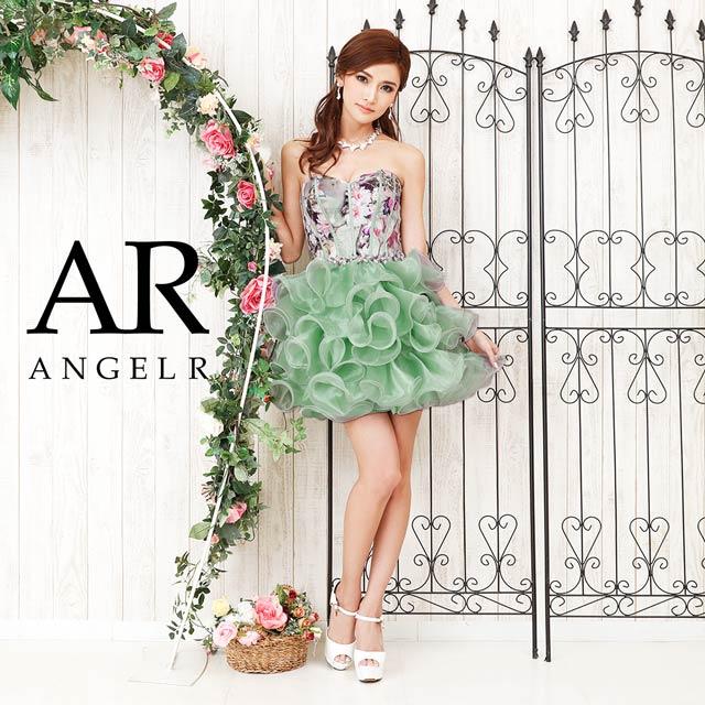 【P★10倍】ベアトップ花柄オーガンジーミニドレス [AngelR][AR8214][送料無料]