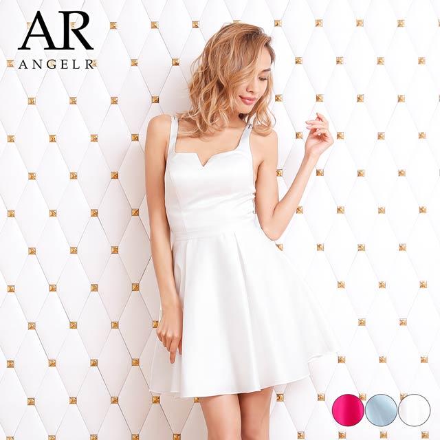 【P★10倍】デコルテデザインカットフレアスカートドレス [AngelR][AR8225]