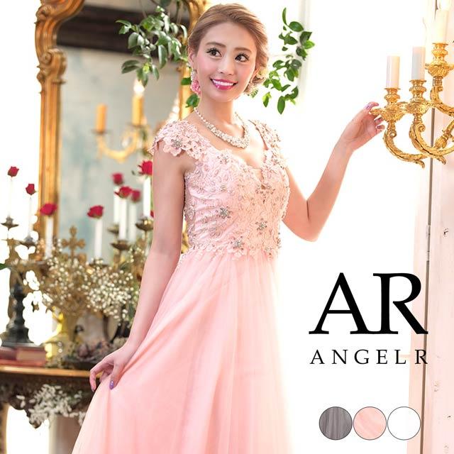 [AngelR]バックシアーレースフレアロングドレス[AR8330]