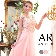 【P★10倍】[AngelR]バックシアーレースフレアロングドレス[AR8330][送料無料]