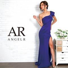 9/25UP【P★10倍】[AngelR]リボンモチーフワンショルダータイトロングドレス[AR8234][送料無料]