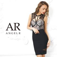 【P★10倍】[AngelR]レースデコルテデザインシアーレッグバンデージミニドレス[AR9905][送料無料]