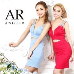 【P★10倍】[AngelR]オーロラビジューウエストカットタイトミニドレス[AR9322][送料無料]