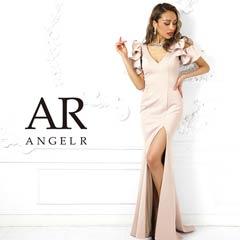 7/5UP【P★10倍】[AngelR]Vカットフレアスリーブタイトロングドレス[AR9214][送料無料]