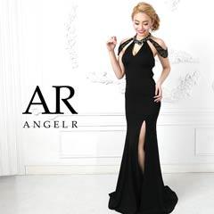 7/3UP【P★10倍】[AngelR]デコルテカットバックレースアップタイトロングドレス[AR9813][送料無料]