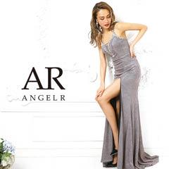 9/25UP【P★10倍】[AngelR]ラメ生地深Vカットタイトロングドレス[AR9103][送料無料]
