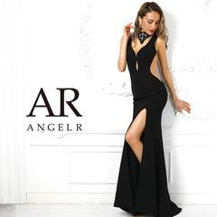 7/8UP【P★10倍】[AngelR]チョーカー風デザインカットタイトロングドレス[AR9219][送料無料]