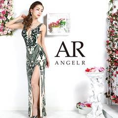 【P 10倍】[AngelR]サイドシアースパンコールレースタイトロングドレス[AR9335][送料無料]
