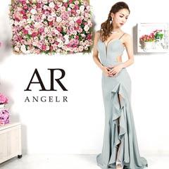 10/7UP【P★10倍】[AngelR]ラメグリッターフリルスリットロングドレス[AR9332][送料無料]