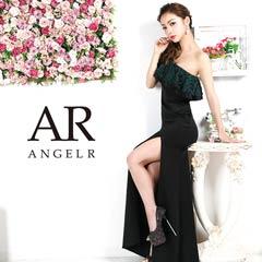 9/30UP【P★10倍】[AngelR]レースフリルワンショルダータイトロングドレス[AR9816][送料無料]
