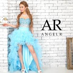 【P★10倍】[AngelR]グラデーションビーズ前ミニロングドレス[AR9224][送料無料]