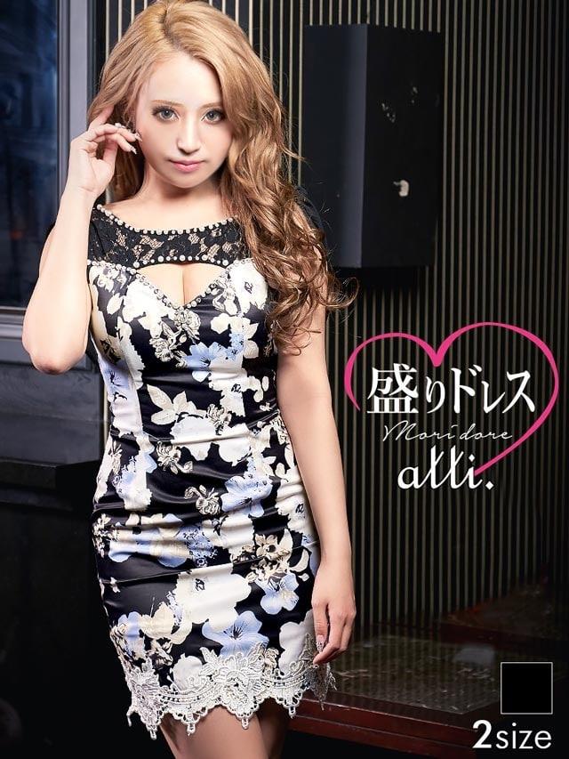 【盛りドレス】[S/Mサイズ]谷間ホールバックドレープ付き花柄タイトミニドレス[2サイズ展開]