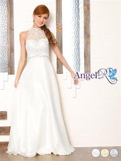 【P★10倍】[AngelR]アメスリ背中見せAラインロングドレス[AR7502][送料無料]