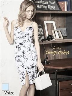 [S/Mサイズ]花柄Vカットキャミタイトドレス[2サイズ展開][送料無料]