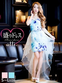[2way][SMLサイズ]テールカットぺプラム花柄スカラップタイトミニドレス[3サイズ展開][ヌードブラプレゼント中]