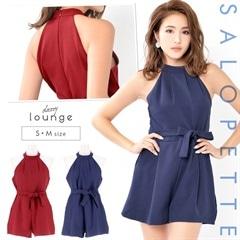 6/20UP[S/Mサイズ]ワンカラーアメスリパンツドレス[2サイズ展開]