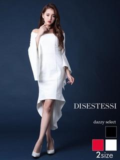 [DISESTESSI]ワンカラーオフショルタイトミニドレス