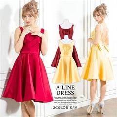2/15UP[S/Mサイズ]Ribbon & circularskirt minidress -リボン&サーキュラースカートミニドレス-[2サイズ展開]