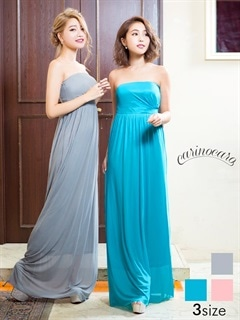 ベアスレンダーラインシンプルロングドレス