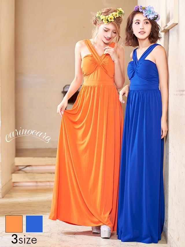 ベアスレンダーラインタンクトップロングドレス