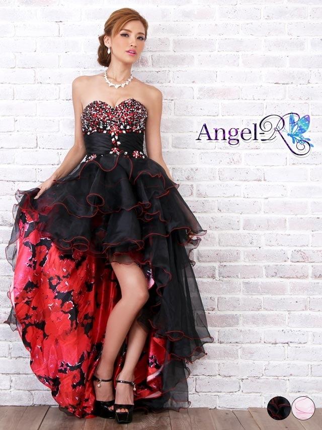 【P★10倍】[AngelR][Sサイズ]花柄ベアチュールインナーミニロングドレス[AR7617][送料無料]