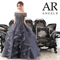 【P★10倍】[AngelR]オフショルプリンスラインAラインロングドレス[AR7340][送料無料]