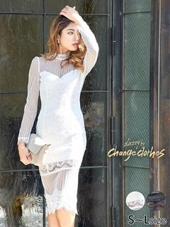 [SMLサイズ]スリット入り総レースホルターネックドレス[3サイズ展開][change clothes][送料無料]