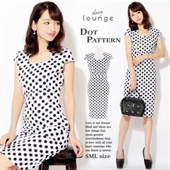 [SMLサイズ]ドットミニタイトドレス[3サイズ展開][1/23再入荷]