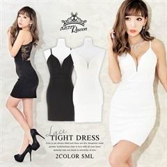 [SMLサイズ]ワンカラーキャミ背中見せミニタイトドレス[3サイズ展開][1/18再入荷]