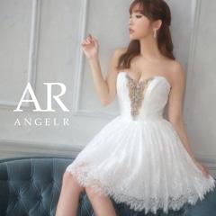 [AngelR]バストビジューシアーAラインミニドレス[AR21313]