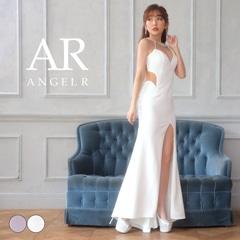 [AngelR]デコルテビジューバックシアーロングドレス[AR21810]