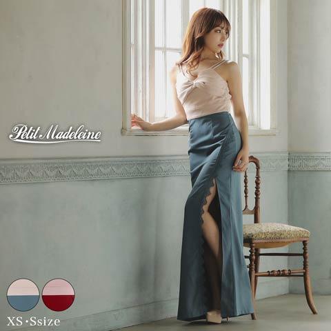 [XS/Sサイズ]SEXYカシュクールタイトロングドレス[桜井みづき着用/petit madeleine(プティマドレーヌ)]