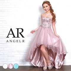 3/1UP【P★10倍】[AngelR]ハートカットビジューメッシュテールカットロングドレス[AR8616][送料無料]